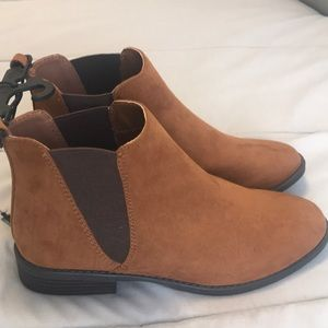 Shoes - Brown suede Chelsea Boots. Never worn!